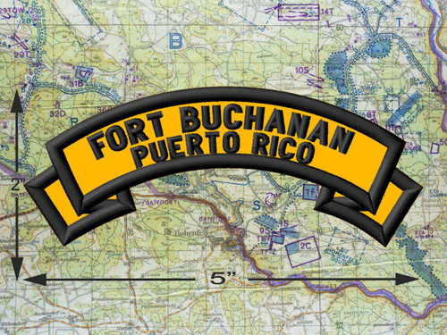Fort Buchanan Puerto Rico Gold Patch