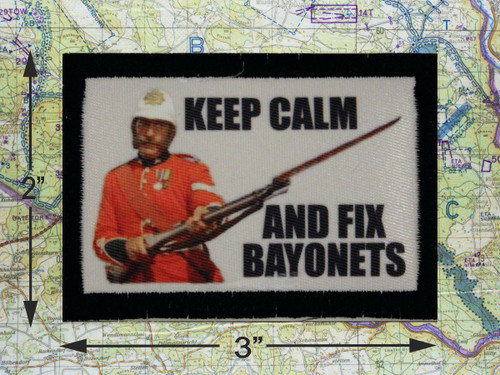Keep Calm and Fix Bayonets Morale Patch
