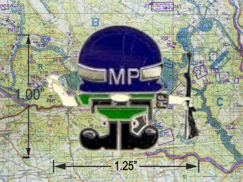 Military Police Cartoon Pin