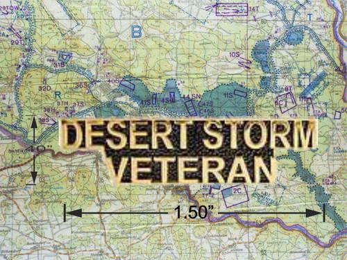Desert Storm Veteran Hat Pin