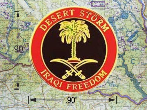 Desert Storm Iraqi Freedom Hat Pin