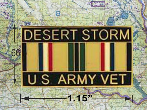 Desert Storm Army Vet Hat Pin