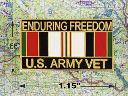 Enduring Freedom Army Vet Hat Pin