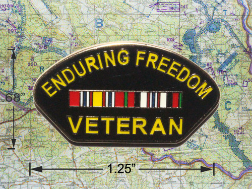 Enduring Freedom Veteran Cap Pin