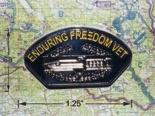 Enduring Freedom Combat Badge Cap Pin