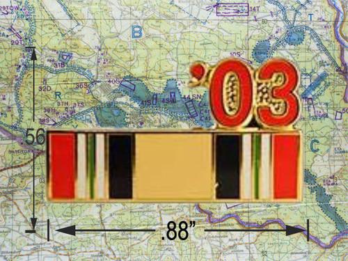 Iraqi Freedom  Ribbon 03 Hat Pin