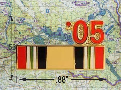 Iraqi Freedom  Ribbon 05 Hat Pin