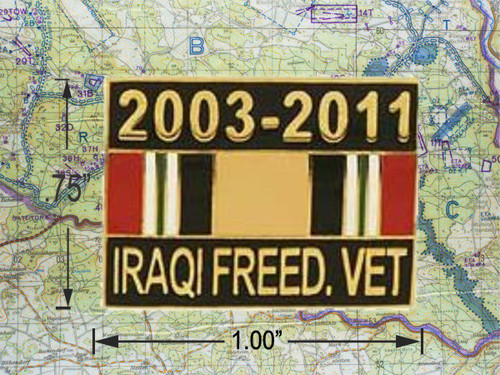 2003-2011 Iraqi Freedom Ribbon Hat Pin
