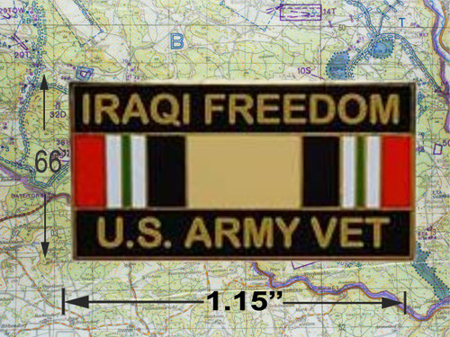 Iraqi Freedom Army Vet Ribbon Hat Pin