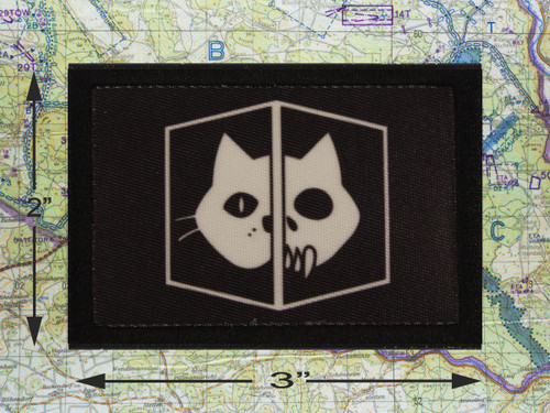 Schrodinger's Cat Black Moral Patch