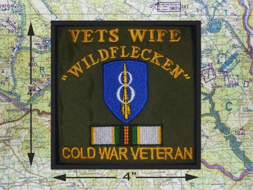 8th Id Cold War Veteran Patch Wildflecken Hawk