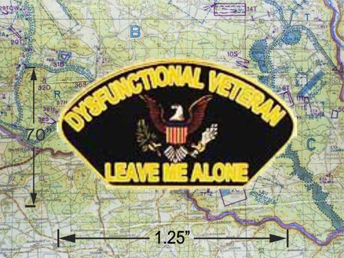 Dysfunctional Veteran  Cap Pin