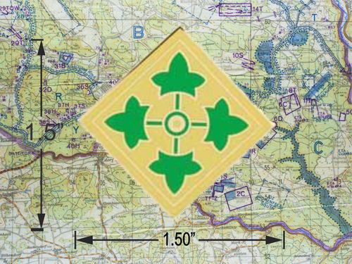 4TH Infantry Division Hat Pin