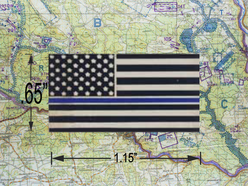 THIN BLUE LINE US Flag Pin