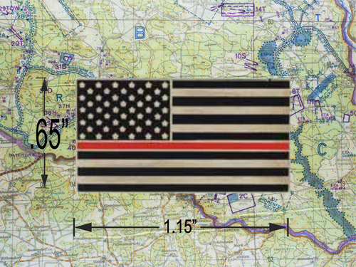 THIN RED LINE US Flag Pin