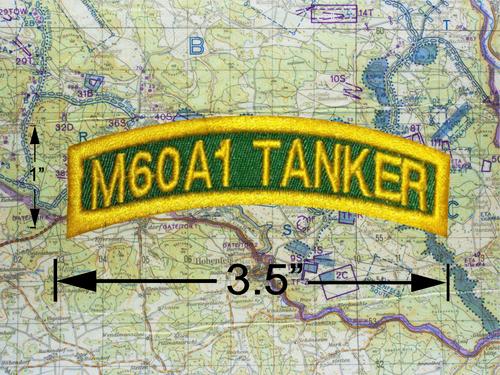 M60A1 TANKER TAB GREEN GOLD *B5*