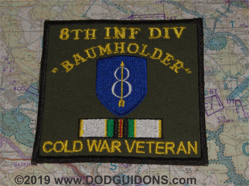 8th ID COLD WAR VETERAN PATCH BAUMHOLDER *B16*