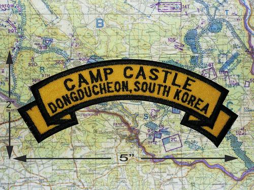 CAMP CASTLE DONGDUCHEON SOUTH KOREA PATCH