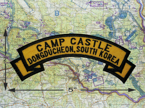 CAMP CASTLE DONGDUCHEON SOUTH KOREA PATCH