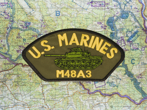 M48A3 HAT PATCH OLIVE DRAB