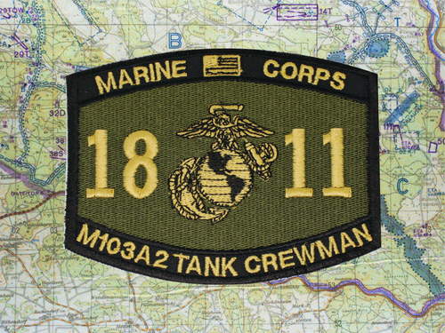 1811 M103A2 PATCH OLIVE DRAB