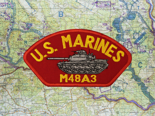 """M48A3 HAT PATCH RED """"B15"""""""