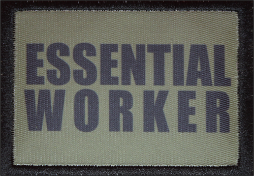 Essential Worker Olive Green Morale Patch 2