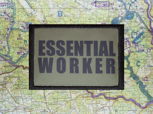 Essential Worker Olive Green Morale Patch