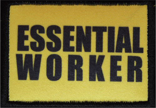 Essential Worker Yellow Morale Patch 5