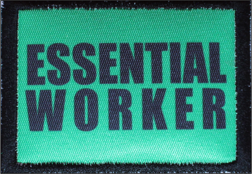 Essential Worker Bright Green Morale Patch B17 4