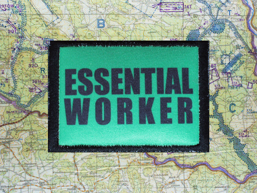 Essential Worker Bright Green Moral Patch B17