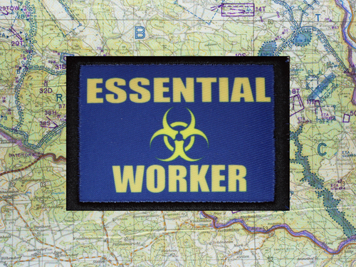 Essential Worker Biohazard Patch B17 3