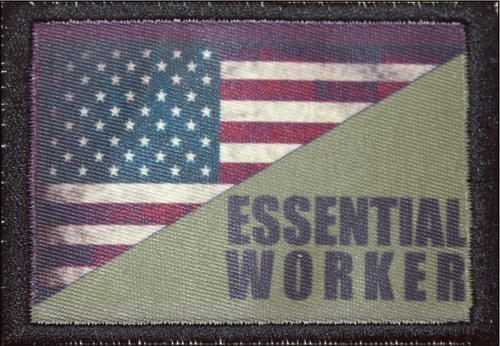 Essential Worker US Flag Patch B17 43
