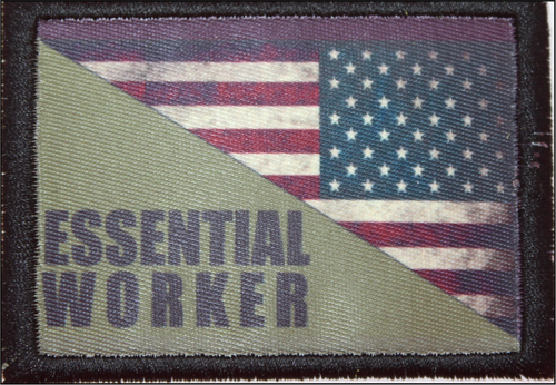 Essential Worker Reverse US Flag Patch B17 5