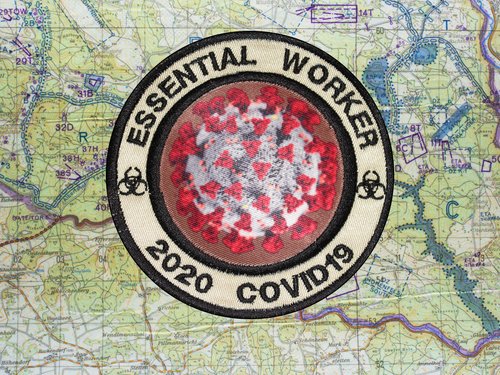 Essential Worker Covid19 Khaki Patch