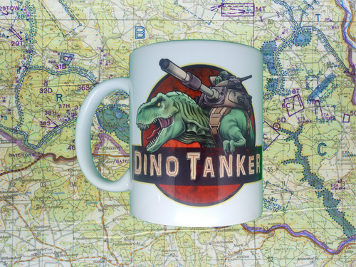 Dino tanker coffee cup