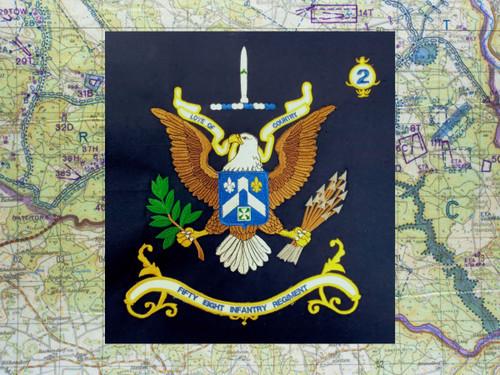 58th Infantry Mini Regimental Flag