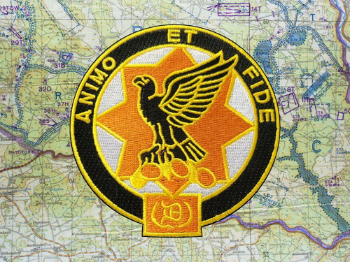 1st Cavalry Regiment Unit Crest (Animo Et Fide) Vest Patch