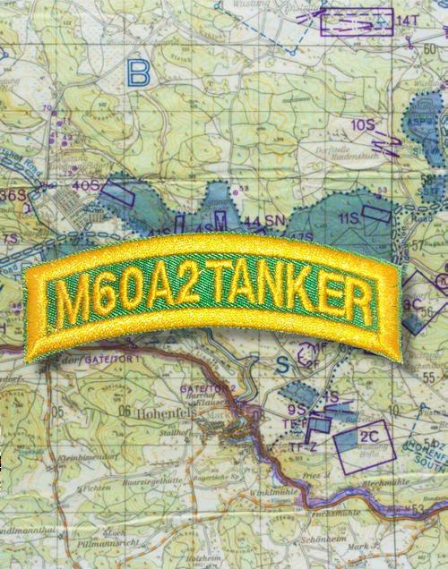 M60A2 TANKER TAB GREEN GOLD Q21