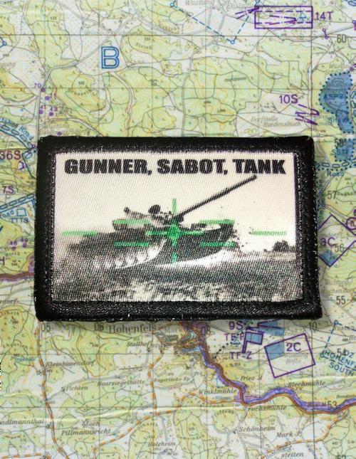 Gunner, Sabot, Tank Tactical Patch X2