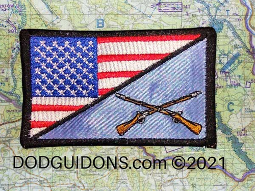 Infantry with US Flag in Full Color P9