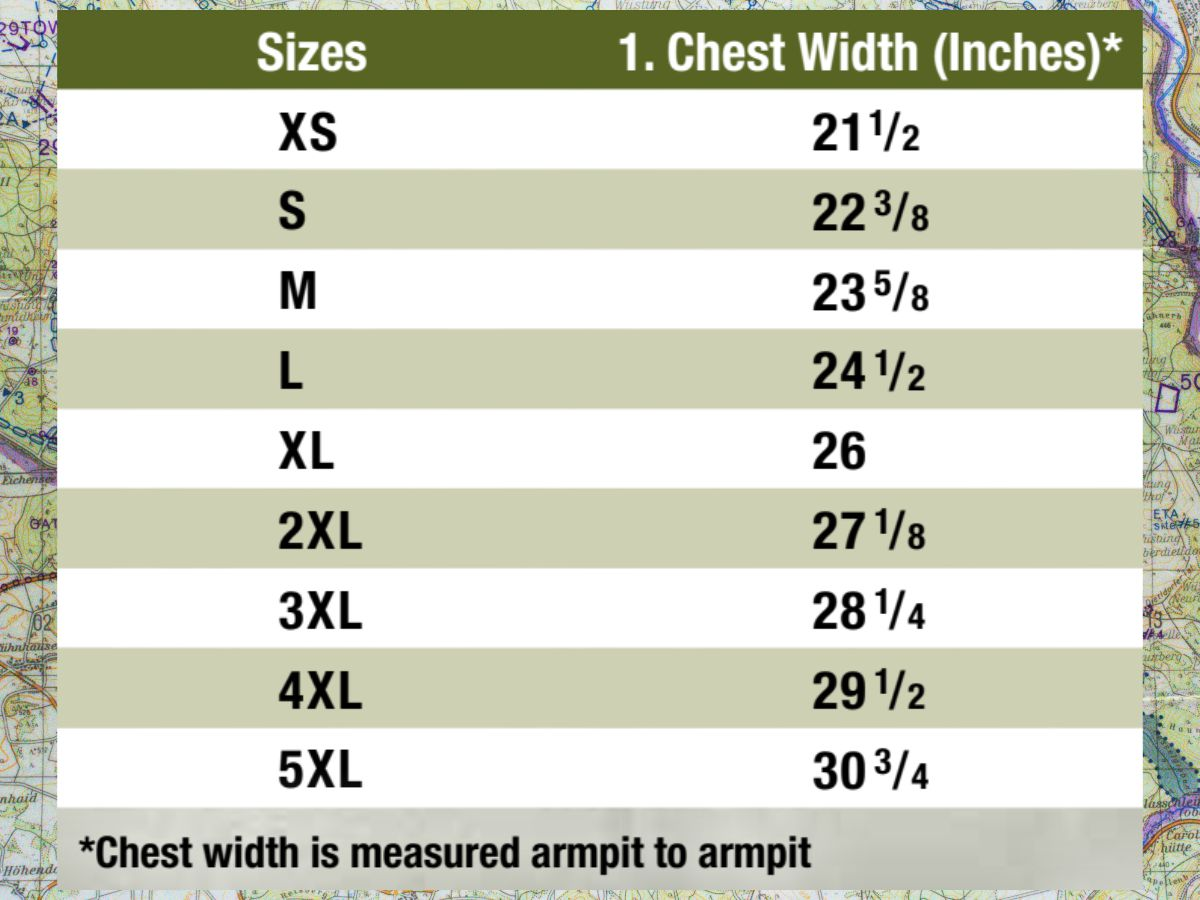Conceal Carry Hoodie Size Chart DODGUIDONS