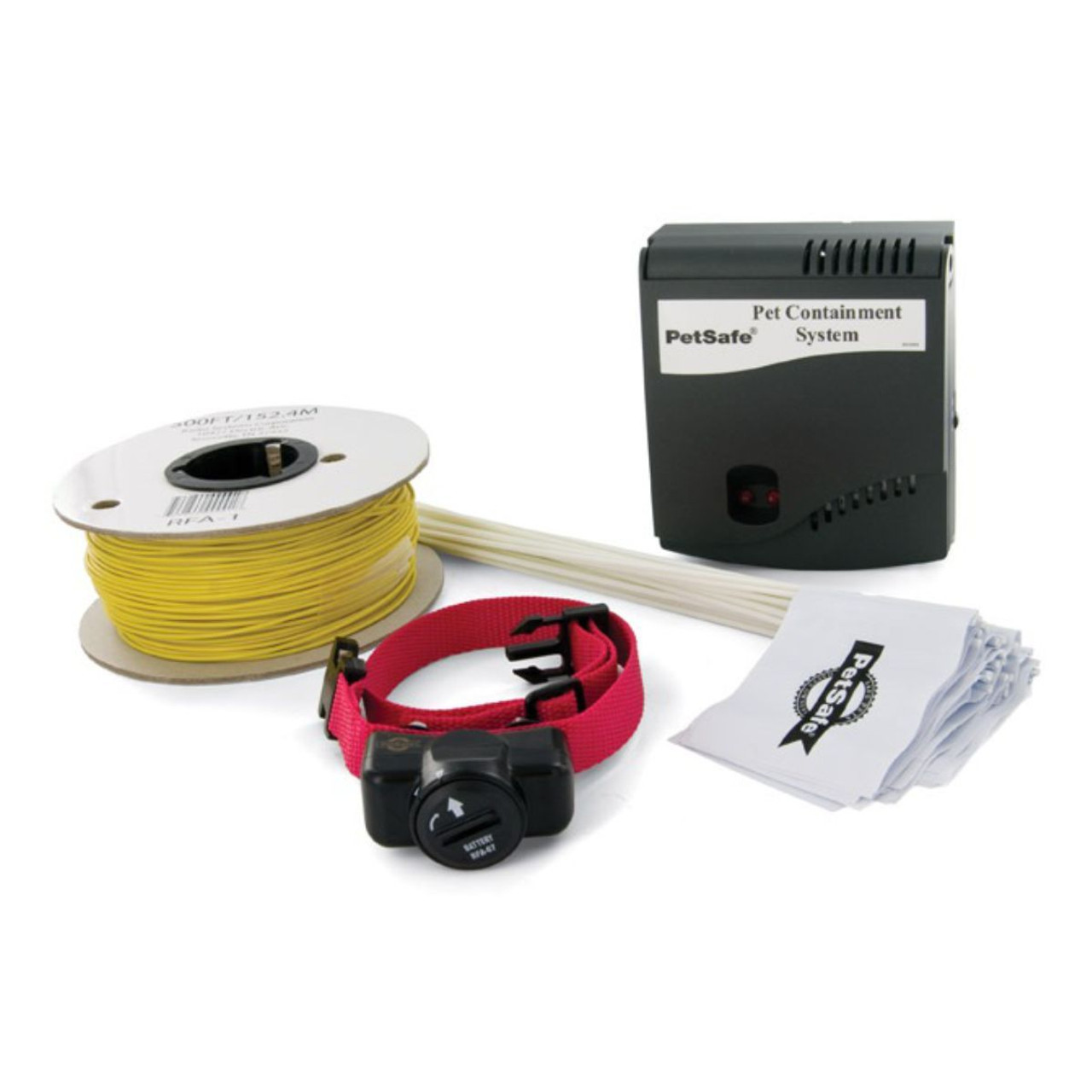 Pet Safe Wired dog fence, inc  100 mars cable, training flags, instructions, Base Unit