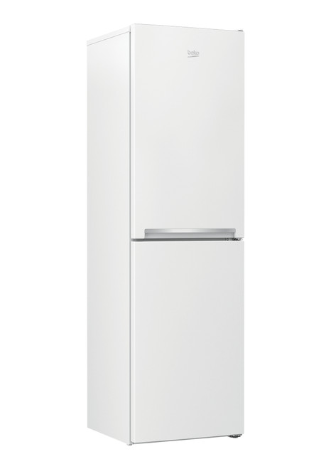 Beko Freestanding Combi Fridge Freezer CSG1582 KEY FEATURES AT A GLANCE Convenient and easy to use, this fridge freezer comes with adjustable glass shelves making cleaning easy, and four freezer drawers helping providing flexible storage space.  Refrigeration ClassCombi Fridge Freezer Refrigeration TypeStatic Energy Efficiency ClassA+ Adjustable front feetYes Flame Retardant Back Yes Stored Water DispenserNo Reversible door for LH or RH openingYes Maximum ambient temperature for satisfactory operation43°C Door HandlesIntegrated Minimum ambient temperature required for satisfactory operation - Freezer Only5°C
