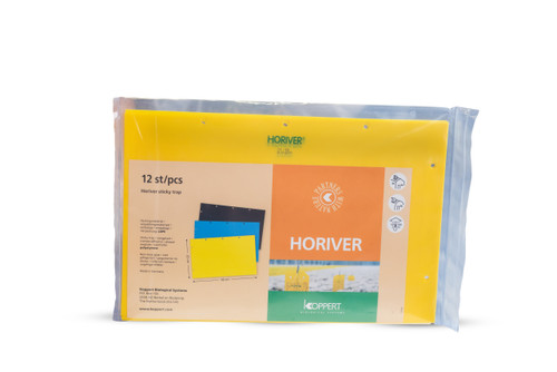 Horiver Yellow sticky traps-  12, 40cm x 25cm cards per order 1