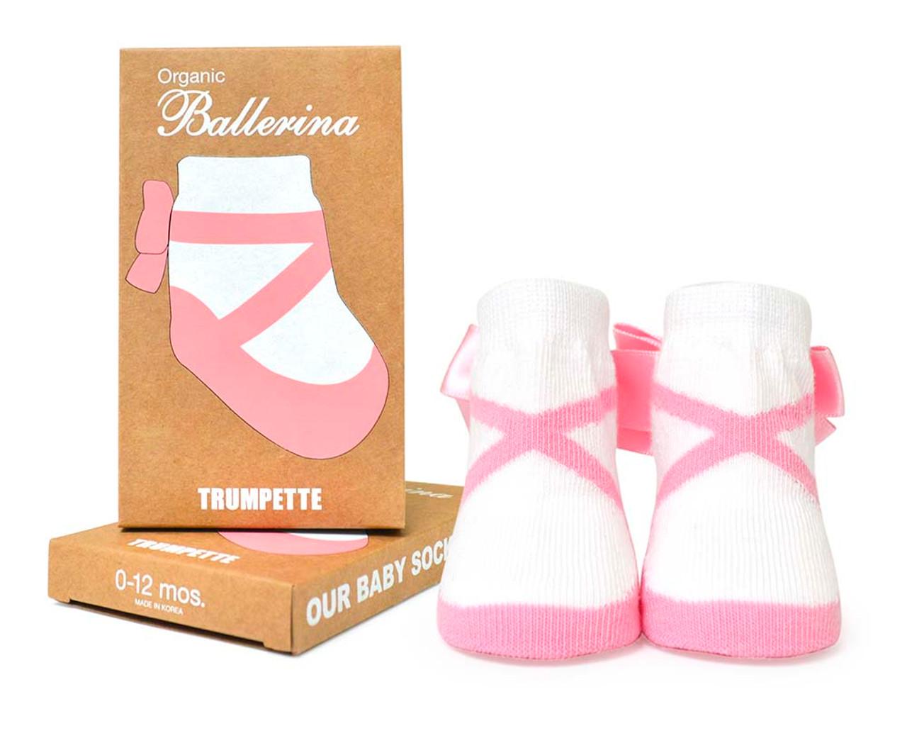 Organic Ballerina Baby Socks, Girls