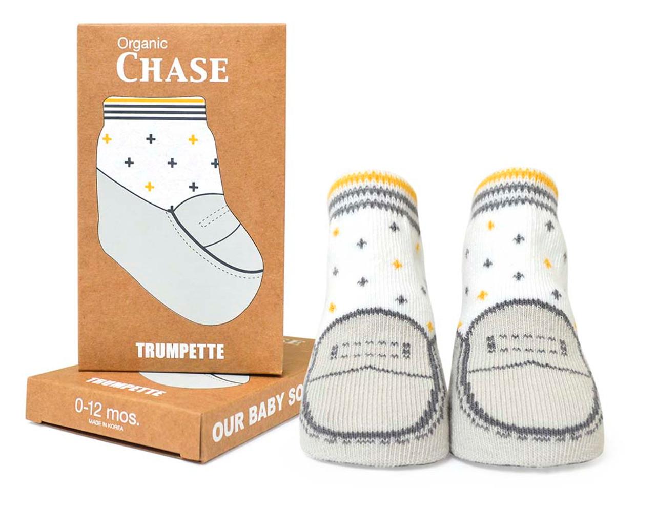 b0e645d83 Organic Chase Baby Socks