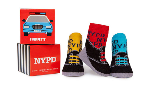 Socks for babies with NYPD design.  3 Pack in gift box.