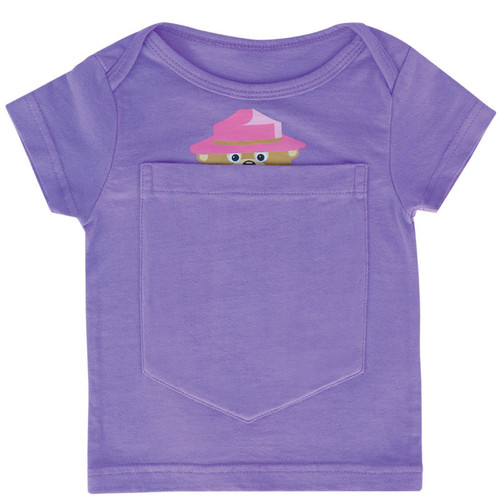 Big Pocket t-shirt with bear design.  For babies ages 0 - 6 months