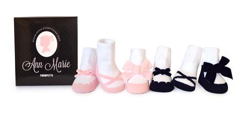 Ann Marie Baby Socks, 6 Pack